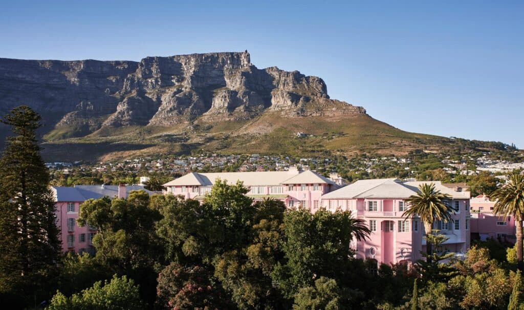 Staying at the Classic Belmond Mount Nelson Hotel in Cape Town