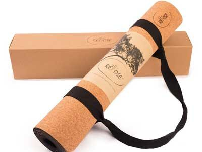 Cork and Rubber Yoga Mat